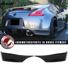 Fits 09-16 Nissan 370Z SS Style Rear Aprons Spat Rear Bumper Lip - PU Urethane