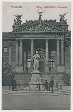 AK Wiesbaden - Theater mit Schillerdenkmal (K311)