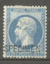 "FRANCE STAMP TIMBRE SPECIMEN N° 4 ""NAPOLEON III 20c BLEU"" NEUF x A VOIR"