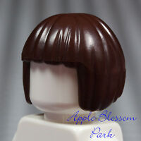 NEW Lego Minifig DARK BROWN Short Female HAIR - Movie Minifigure Page Head Gear