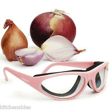 RSVP Intl PINK ONION GOGGLES Glasses & CASE Tear Free