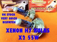 H7 XENON Halogen Headlight Bulbs x2 FORD FIESTA MK7