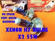 H7 XENON Halogen Headlight Bulbs x2 FORD FIESTA MK7
