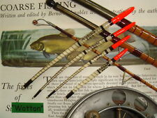 TRADITIONAL HANDMADE GOOSE QUILL FISHING FLOAT SET  RED TIPs