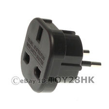 Schuko Germany Travel Adapter AC Plug Convert EU AU US UK to Schuko - Black