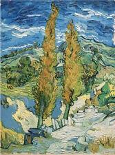 Vincent van Gogh The Poplars at Saint-Rémy 1889 Vintage Print Poster 11x14