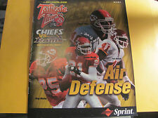 Kansas City Chiefs 10-22 2000 Tailgate Times GamedayProgram  ST. LOUIS RAMS
