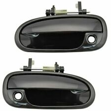 NEW Front Outside Door Handles Set LH RH Smooth Black for 1996-2000 Honda Civic