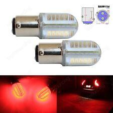 2 Red PR21/5W BAW15d 567 COB LED Signal Stop Brake Parking Side Light Bulb 8W UK