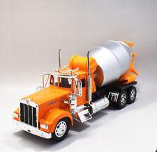 Newray 1:32 Kenworth Cement Mixer Concrete Semi Metal Truck Model New Yellow