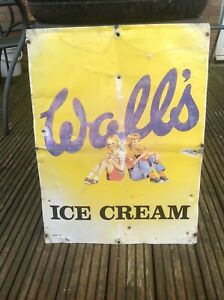 Old Walls Ice Cream sign 1970's.