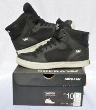 Supra Vaider Black High Top Sneakers. Size M10 Skateboarding Shoes. Original box