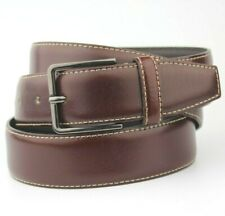 "Dressman Wine Brown Burgundy Vintage Retro Style Leather Belt Size 36""- 100cm"