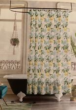 Opalhouse Yellow Blue Green Floral Tropical Shower Curtain Tassels New