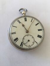 Very Old Silver Fusee Antique Pocket Watch Signed Ashdown & Bartlette, Maidstone