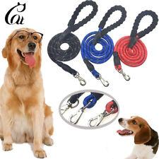 5 FT Dog Leash Nylon Rope Pet Leash Training Walking Soft Rope Padded Handle