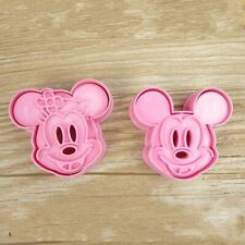 Minnie & Mickey Mouse Cookie Cutter Baking Stencil Mould Set of 2 UK SELLER