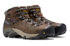 New Mens Keen Utility Detroit Mid Steel Toe EH Work Boots Sz 9 M Brown 1007004D