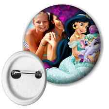 Disney Princess Jasmine Personalised Photo Button Pin Badge 50mm