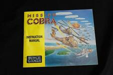 Mission Cobra Nintendo NES Instruction Manual Booklet Only - Free Shipping!