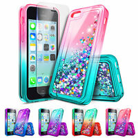 For Apple iPhone 5c | Liquid Glitter Shockproof Cover Case + Screen Protector