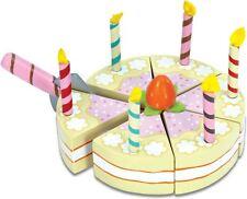 Le Toy Van HONEYBAKE VANILLA BIRTHDAY CAKE Wooden Celebration Play Food  BN