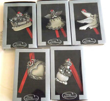 5 Different New Pewter Things To Remembered Pewter Ornaments IOB's