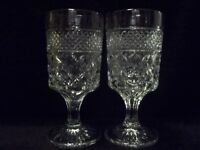 """Anchor Hocking  """"WEXFORD""""  6-5/8""""  WATER GOBLETS - Set of (2)"""