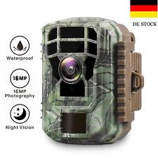 Mini Wildkamera Jagdkamera 1080P 16MP Fotofalle Wasserdicht 20M PIR Nachtsicht