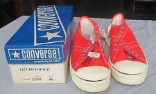 Vintage 1970's Converse Fast Break Sneakers 9 1/2 Orange Box Mens Oxford Unworn