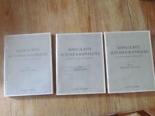 Manuscrits autobiographiques de Sainte Thérèse de l'Enfant-Jésus 3 tomes 1956