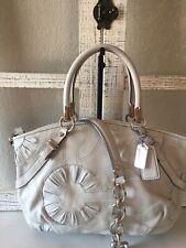 COACH Sophia Putty Embellished Gathered Leather Shoulder Handbag Purse16356 EUC