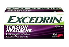 New Excedrin Tension Headache Aspirin-Free Pain Reliever Caplets 100 Count