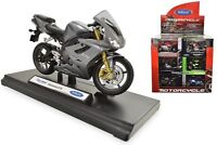 Welly Die Cast 1:18 Scale Motorcycle Model In Box Choice of 6 Motorbikes Gift
