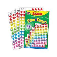 2500 Sterne Lächeln Schule Lehrer Belohnungssticker Aufkleber Fortschritt
