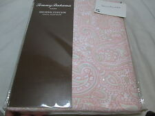 New Tommy Bahama Fabric Shower Curtain TOUCAN ALLEY 72x72 Coral, Sage Paisley