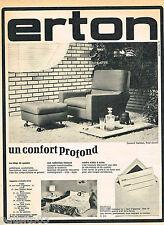 PUBLICITE ADVERTISING 065  1966  ERTON   fauteuil BARBARA pouf assorti
