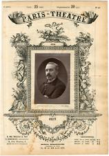 Lemercier, Paris-Théâtre, Obin, chanteur Vintage albumen Print Tirage albumi