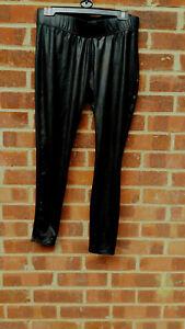 Mamas and Papas Black Wetlook Maternity Leggings UK size 12/14