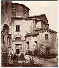 Italie, Ravenna, Tempio di S. Vitale  Vintage albumen print.  Tirage albuminé