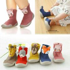 Kinder Baby Mädchen Jungen Kleinkind Anti-Rutsch Hausschuhe Socken Baumwolle