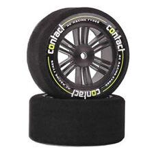 Contact Rc Foam Tyres - 1/10 Front 26mm 42Sh Jap Carbon (Pair) - J14273