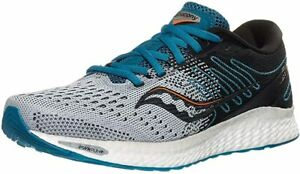 Saucony Men's Freedom 3 Running Shoe, Grey/Blue, 11.5 D(M) US