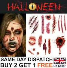 Halloween Zombie Scars Stitches Temporary Tattoos Stapled Wound Face Make-Up Kit