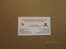 ECHL Wheeling Nailers Vintage Logo Hockey Business Card