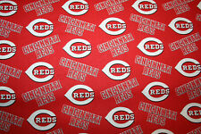 60 INCH WIDE CINCINNATI REDS  MLB -  1/2 YARD  18X60 100% COTTON FABRIC