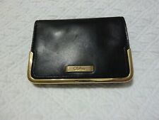 Cole Haan Mini Snap Credit Card Case Wallet Coin Holder Black EUC