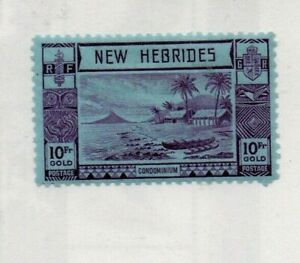 A High Cat Value unused New Hebrides 10 Fr Gold Gold issue