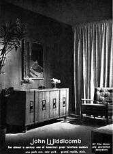 John Widdicomb Furniture SIDE BOARD Chair ORIGINAL 1955 MAGAZINE AD