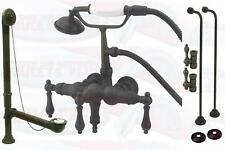 Oil Rubbed Bronze Clawfoot Tub Faucet Drain Supply Kit
